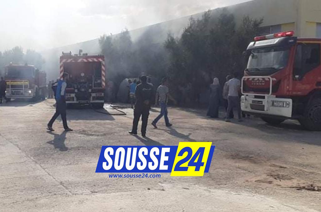 Photo of المنستير: حريق بمصنع القطن بمنزل الحياة(صور)