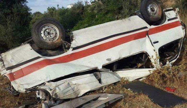 """Photo of إصابة 9 أشخاص في حادث انقلاب سيارة """"لواج"""" بالطريق السيارة سوسة – تونس"""