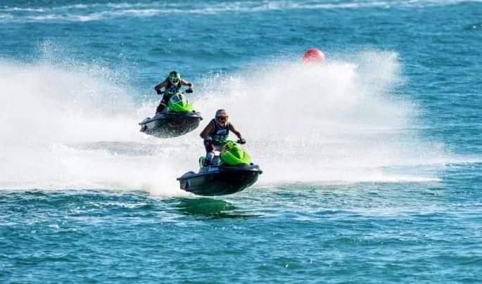 Photo of وحدات الحرس البحري بالساحل يضبط حراقة على دراجة مائية jet sky